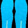 Suolette azzurre no sfondo intere